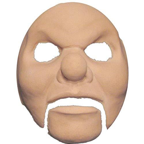 KULTFAKTOR GmbH Horror Clown Halloween Latex-Applikation beige Einheitsgröße