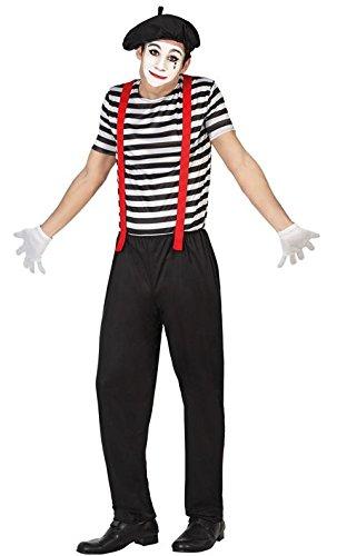 Schuhe Mime Kostüm - ATOSA 26519 Verkleidung Mime,Größe M-L, Herren, Mehrfarbig,