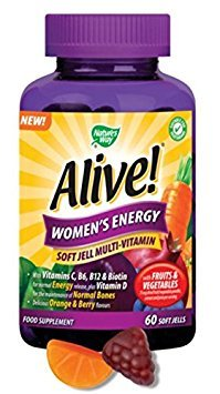 (2 Pack) – Nature's Way – Alive! – Women's Energy Soft Jell | 60 Chewables | 2 PACK BUNDLE