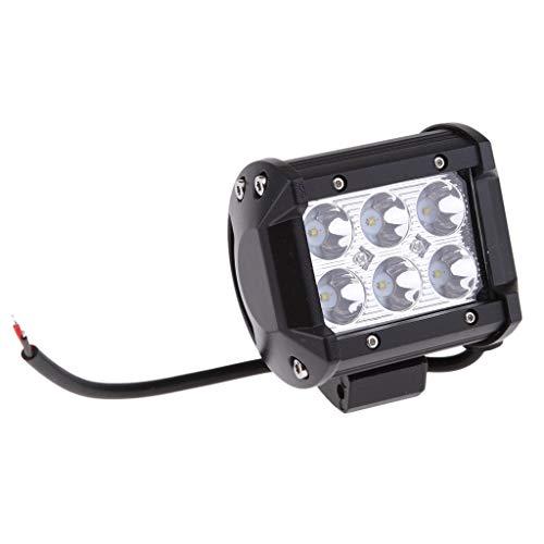 perfeclan Phare de Travail de Moto LED Antibrouillard 18W 6000K 12V 24V DC