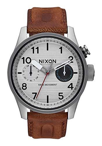 Nixon Herren Chronograph Quarz Uhr mit Leder Armband A977 1113-00 -