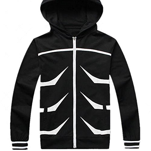 Kaneki Ken Jacke Zip Up Hooded Schwarz Sweatshirt Hoodie Cosplay Kostüm Costume