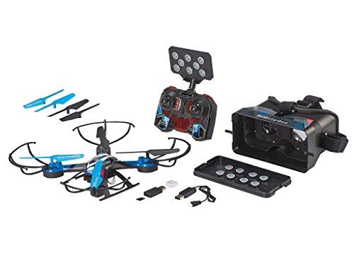 Revell Control RC VR Quadrocopter mit FPV Kamera und VR-Brille, Live-Übertragung über WiFi, Video-Stream aufs eigene Smartphone, ferngesteuert mit 2,4 GHz Fernsteuerung, Wechsel-Akku, VR SHOT 23908 - 2