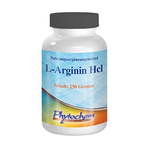 ARGININ HCL | reines Arginin Hydrochlorid ohne Zusätze | 250 Gramm | Premium Qualität aus Deutschland