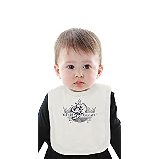 Never Forget Dinosaurs Organic Baby Bib With Ties Medium