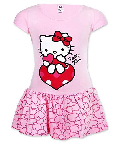 Mädchen Offiziell Lizenzierte Hallo Kitty Cotton-Kostüm-Kleid Alter 2 Jahre (Kitty Hello Kinder Für Kostüm)