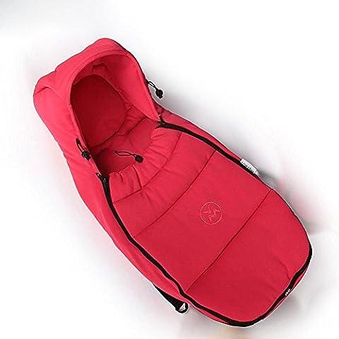 Hot mom® Passeggino e culla standard in fibra di carbone di bambù, dotato di sacco a pelo per bambini da 0 a 6 mesi, colore: rosa, ) - Bambù Passeggino