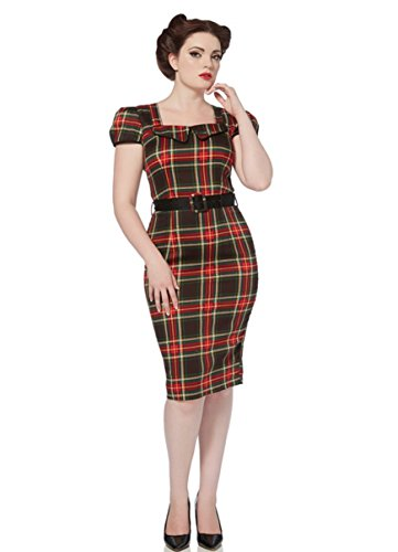 Voodoo Vixen - Scots Lady Tartan Pencil Dress XL