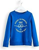 RED WAGON Jungen Sweatshirt mit 'Deep Blue Sea'-Print, Blau (Blue 19-4055 TCX), 110 (Herstellergröße: 5)