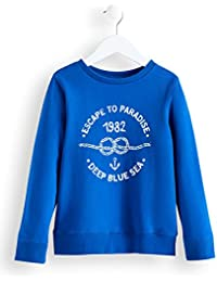 RED WAGON Jungen Sweatshirt mit 'Deep Blue Sea'-Print