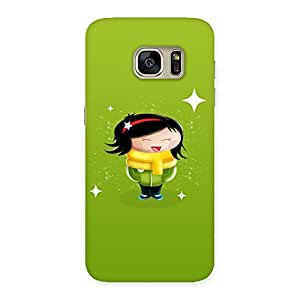 Cute Laughing Girl Back Case Cover for Galaxy S7