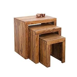 Invicta interior set 3 tavolini da appoggio in legno - Tavolini da cucina ...