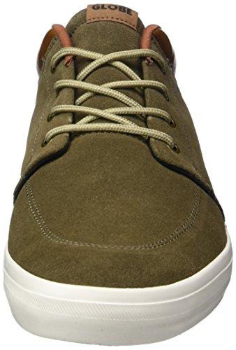 Globe Gs Chukka, Chaussures de skateboard homme Vert (Marron Walnut/Off White)