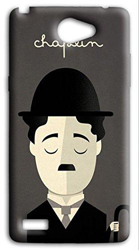 mixroom-Cover Handy Case in TPU Silikon Weich für LG L Bello 2II V324Charlie Chaplin (Charlie Belle)