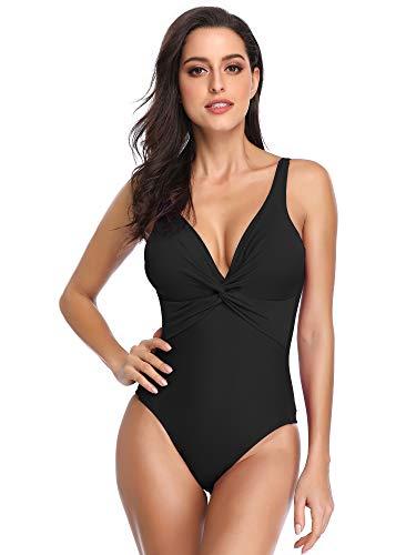 f1e26a4423d5 Summer Mae Costume da Bagno Intero Push Up per Donna Nero M IT42