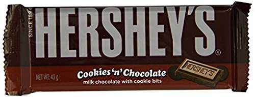 Hershey Cookies N Chocolate 43g bar - American Candy & Sweets (Hersheys Milk Chocolate Bar)