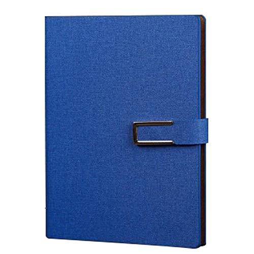 PeHtion Classic Notebook Journal Einfache PU-Leder Loose-Leaf-Notebook mit Innentasche und Schnalle Metallbinder Tagebuch für Business Office