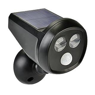 CISTWIN Solarleuchte mit Bewegungssensor, hell, 2 LEDs, Solarlicht, Arespark wasserfest, kabellos, Sicherheits-Wandleuchte/helles Licht mit automatischem An-/Ausschalten/CIS-57679