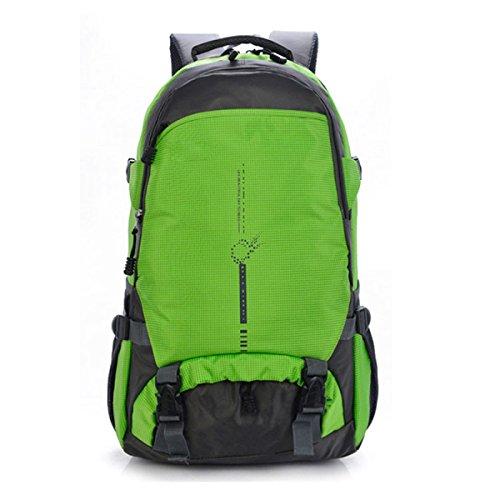 Sacchetto Di Alpinismo Impermeabile Dello Zaino Impermeabile All'aperto Sacchetto Di Spalla Doppio Di Viaggio Di Grande Capacità,Black Green