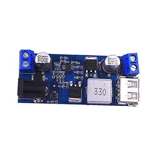 JZK® 24V/ 12V bis 5V 5A Power Buck Modul DC-DC Step Down Netzteil Konverter Board mit LED -