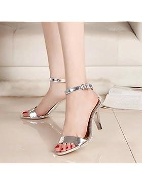 SDKIR-Estate fine con argento, scarpe a tacco alto primo campo detenuti sandali, femmina punta aperta e sexy sandali...
