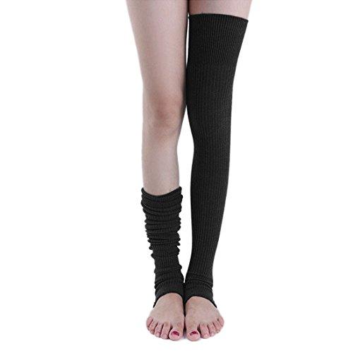 xcellent-global-calentadores-de-pierna-calcetines-largos-calcetines-de-pie-negro-bt035