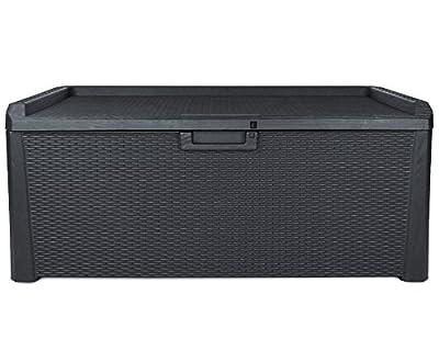 Kissenbox Santo Rattan Optik Sitztruhe Auflagenbox anthrazit 560 Liter XXL von Ondis24 auf Du und dein Garten