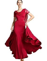 MoLiYanZi Vestidos de Baile Moderno para Mujeres Encaje Espalda Disfraz de  Rendimiento práctica Formación Ropa f34e17b7264a