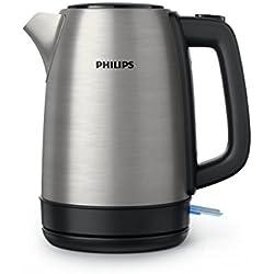 Philips HD9350/90 - Hervidor de Agua sin Cable con Base Giro 360, 2200 W, 1.70 L, Plata