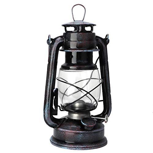 Riuty Hurricane Lantern Lamp Vintage-Stil Petroleumlampe Klassische Retro-Öllampe Petroleum Citronella -