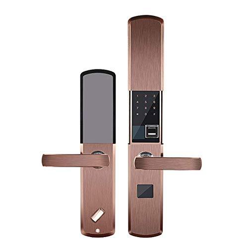 Biometrischer Fingerabdruck-Lock Touchscreen Keyless Smart Lever Door Lock Bluetooth Locks Anti-Diebstahl für Aluminium-Tür und Holztür,Bronze