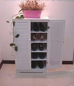 Armoire à chaussures,2 portes persiennes, HC-005