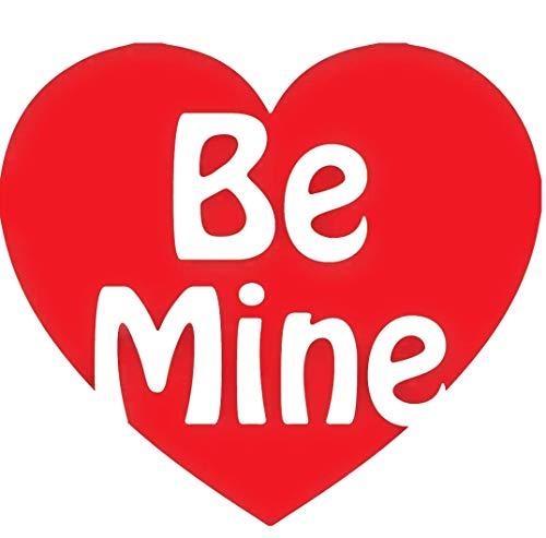 Be Mine - Valentinstag Hochzeit Liebe Herz Vinyl-Aufkleber Glas-Becher Basteln Liebe Herz Rot