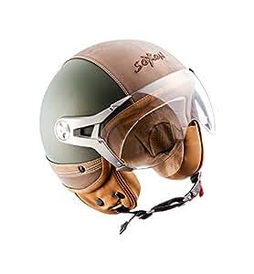 soxon sp 325 urban green roller helm scooter helm jet. Black Bedroom Furniture Sets. Home Design Ideas