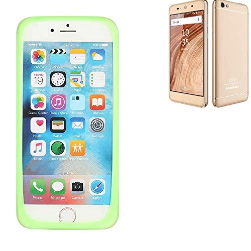 K-S-Trade Für Blaupunkt SL02 Silikonbumper/Bumper aus TPU, Grün Schutzrahmen Schutzring Smartphone Case Hülle Schutzhülle für Blaupunkt SL02