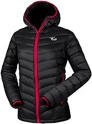 TAK Womans Hooded Down Jacket Ladies Lightweight Padded Puffer Winter Jacket for Women(4 Pockets)