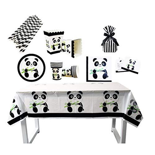 Kissherely Panda Theme Partydekoration liefert Geburtstag Party Banner Geschenk Taschen Panda Bär Baby Shower Decor (Popcorn Boxen × 6)