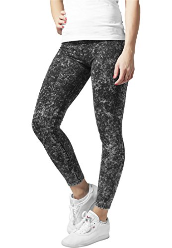 Ladies Acid Wash Leggings darkgrey XS