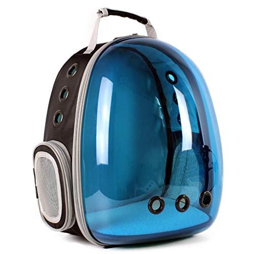 LQ-petbao Portable Pet Carrier Reisetasche Transparent Reduziert Pet Angst Bubble Space Cat Carriers Rucksack Sie können jederzeit mit Ihrem Haustier ausgehen (Color : Blue)