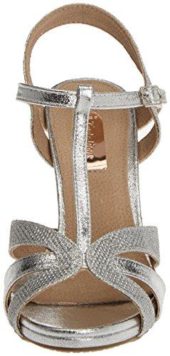 XTI - 030611, Scarpe col tacco Donna Argento