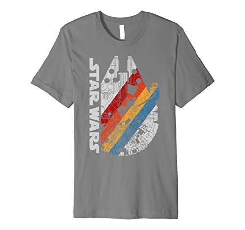 Star Wars Millennium Falcon Wears Retro Stripes T-Shirt C1