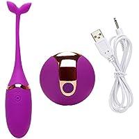 Palitos de masaje Mini G point, Xmansky 10 control remoto impermeable de la frecuencia linda salta el sexo adulto femenino del huevo (Púrpura)