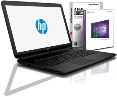 HP Notebook 15,6 Zoll, INTEL N3710 Quad Core 4x2.56 GHz, 8GB RAM, 750GB HDD, INTEL HD, BT, USB 3.0, WLAN, Win10 Prof. 64 (shinobee-Edition) #5308
