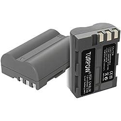 Nikon EN-EL3E Lot de 2 Batteries de Rechange pour Appareil Photo Reflex numérique Nikon EN-EL3E 2000 mAh pour Nikon D700 D300 D300S D200 D100 D90 D80 D70 D70s D50