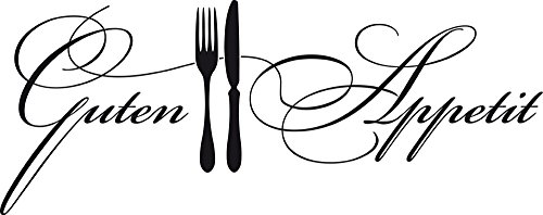 GRAZDesign 620573_40_070 Wandtattoo Küche Guten Appetit mit Besteck | Küchen-Aufkleber und Tattoo für Deine Wände - Schränke - Fliesen - Möbel | für Restaurant und Bars (101x40cm // 070 schwarz)