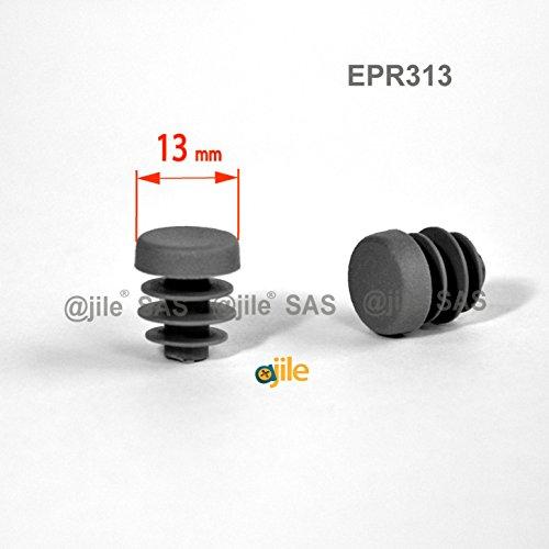 ajile 12 pezzi - Inserto tappo rotondo per tubi diametro D = 13 mm - GIRIO - EPR313