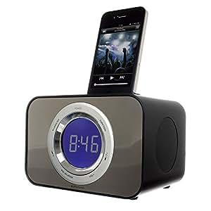 bush docking station speaker dock alarm clock fm radio electro. Black Bedroom Furniture Sets. Home Design Ideas