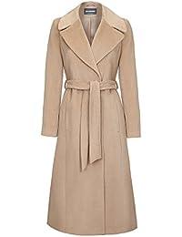 Anastasia Camel Women's Winter Belted Wrap Coat