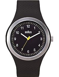 Braun Unisex-Armbanduhr Sport Range Analog Quarz Silikon BN0111BKBKG