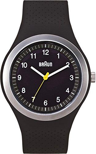 Braun BN0111BKBKG - Reloj analógico de cuarzo unisex con correa de silicona, color negro